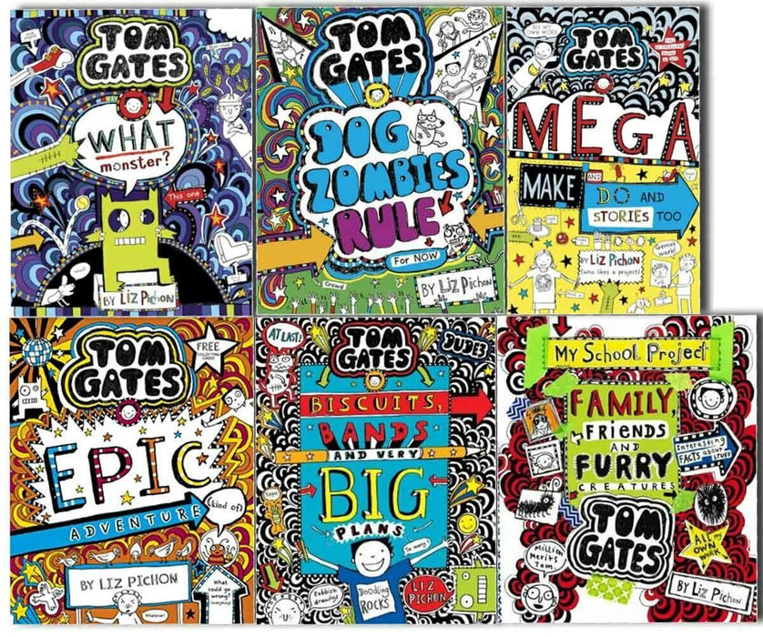 Tom Gates Series Collection 6 Books 11 to 16 - Ages 9-14 - Paperback - Liz Pichon - Books2Door