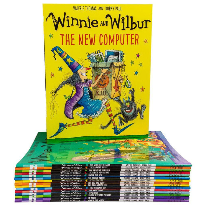 Winnie and Wilbur Series 16 Books Bag Collection Set - Ages 7-9 - Paperback - Valerie Thomas - Books2Door