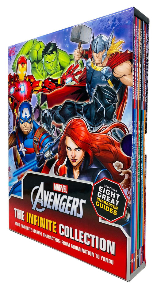 Marvel Avengers The Infinite Collection Character Guides Volume 1 - 8 Books Collection Box - Paperback - Age 5-7
