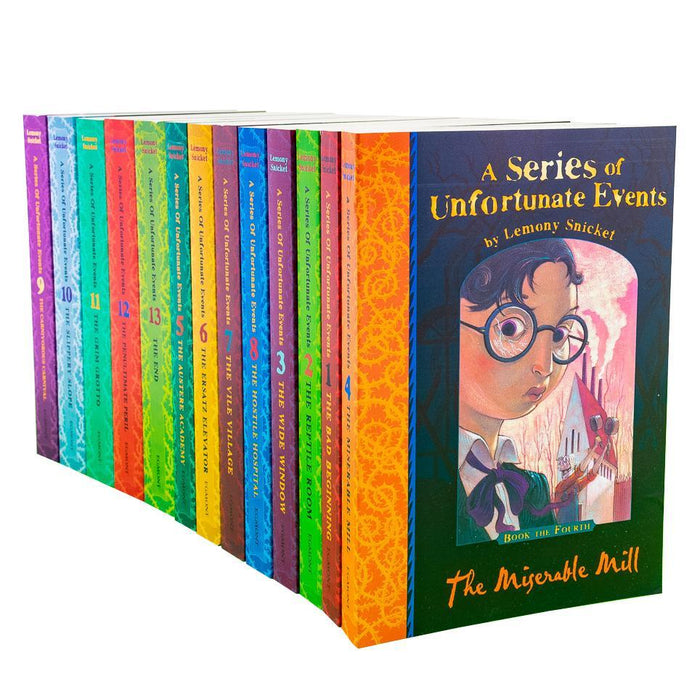 A Series of Unfortunate Events Collection Lemony Snicket 13 Books Set - Ages 9-14 - Paperback - Books2Door
