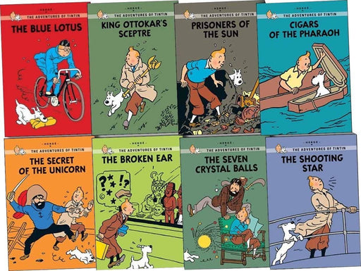 Adventures of Tintin Young Readers 8 Books Collection - Ages 9-14 - Paperback - Herge - Books2Door