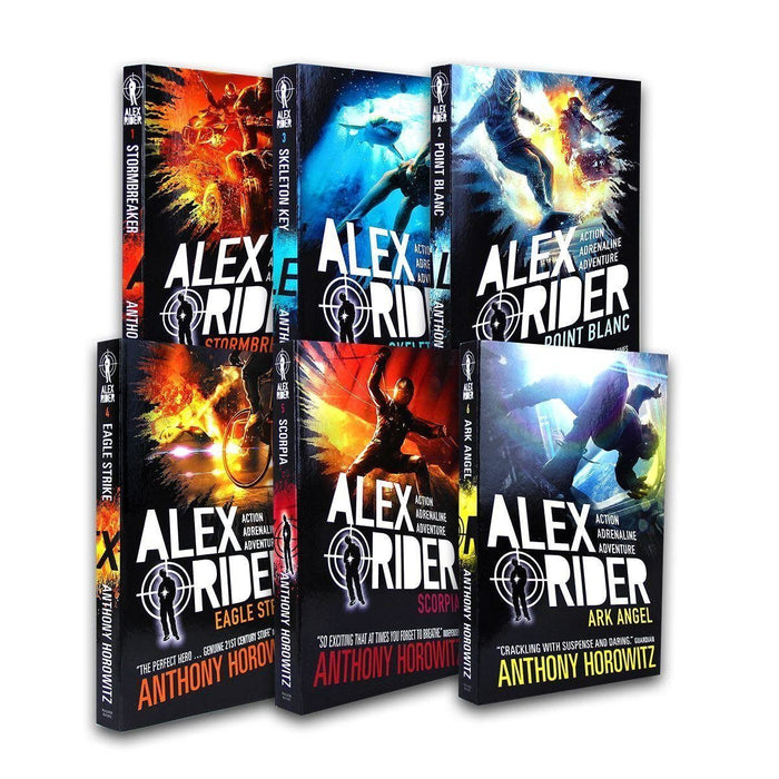 Alex Rider 6 Book pack Adventure Series Collection - Spy Fiction - Paperback - Anthony Horowitz - Books2Door