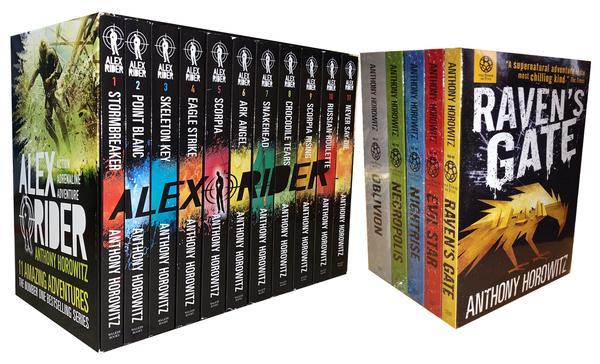 9-14 - Alex Rider & Power Of Five 16 Books Collection - Ages 9-14 - By Anthony Horowitz - Paperback