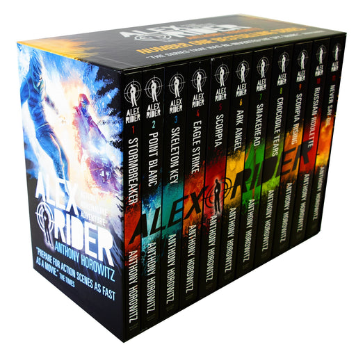 9-14 - Alex Rider The Complete Missions 11 Books Box Set - Ages 9-14 - By Anthony Horowitz
