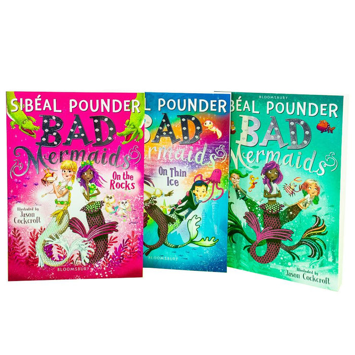 9-14 - Bad Mermaids 3 Books Collection Set - Ages 9-14 - Paperback - Sibéal Pounder