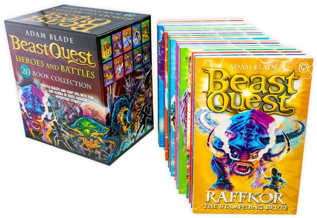 Beast Quest Heroes and Battles 20 Book Collection - Ages 9-14 - Paperback - Adam Blade - Books2Door