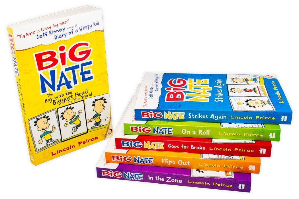 Big Nate Big Six-Book Set 6 Book Collection - Ages 9-14 - Paperback - Lincoln Peirce - Books2Door