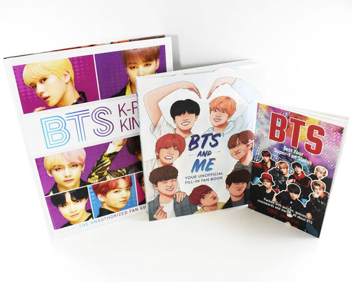 BTS Kings and Icons of K-Pop 4 Books Collection Set - Ages 9-14 - Mixed Format - Helen Brown, Jim Maloney, Adrian Besley, Becca Wright - Books2Door