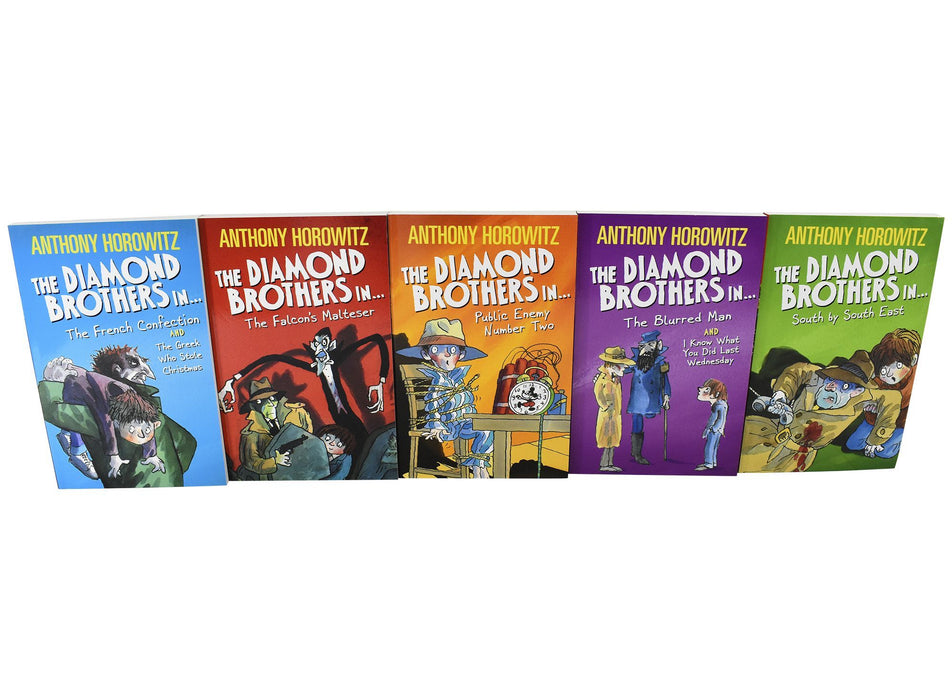 9-14 - Diamond Brothers Detective Agency 5 Books Collection - Ages 9-14 - Paperback - Anthony Horowitz