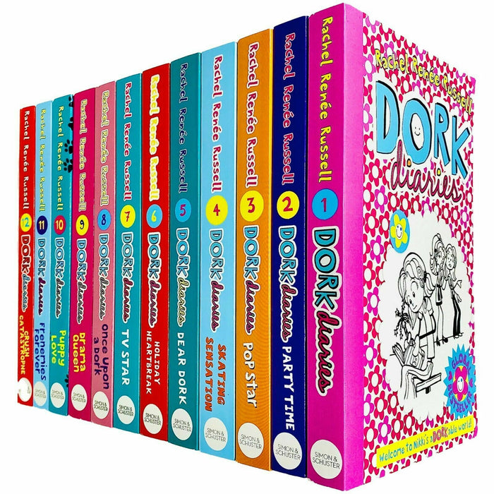 Dork Diaries 12 Book Collection - Ages 9-14 - Paperback - Rachel Renee Russell 9-14 Simon and Schuster