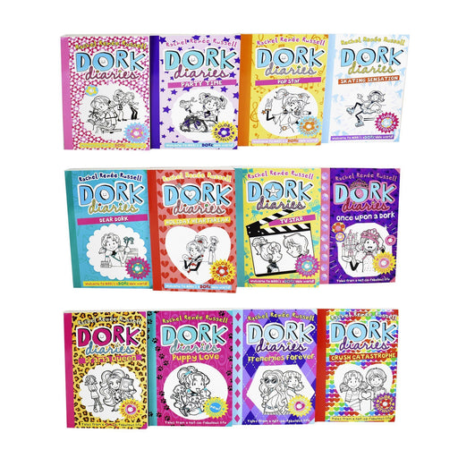 9-14 - Dork Diaries 12 Book Collection - Ages 9-14 - Paperback - Rachel Renee Russell