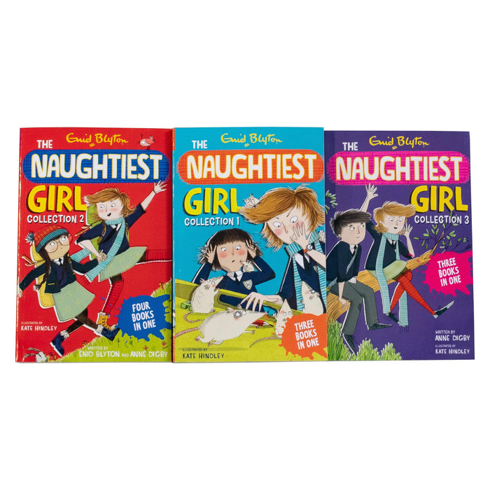 Enid Blyton The Naughtiest Girl 3 Book Collection - Ages 9-14 - Paperback - Enid Blyton & Anne Digby 9-14 Hodder & Stoughton