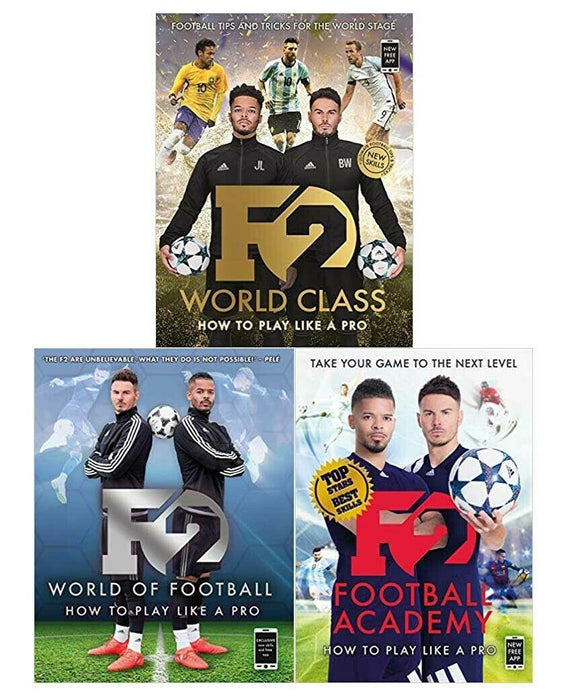 F2 Football Academy, World Class and World of football 3 Books Collection - Sports - Flexibound - Blink Publishing - Books2Door