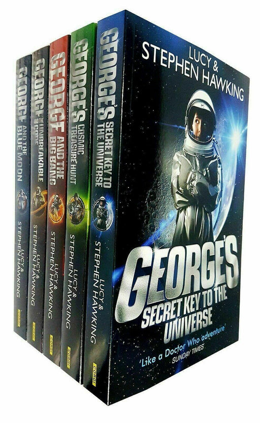 George's Secret Key to the Universe Series 5 Book Collection - Ages 9-14 - Paperback - Lucy and Stephen Hawking - Books2Door