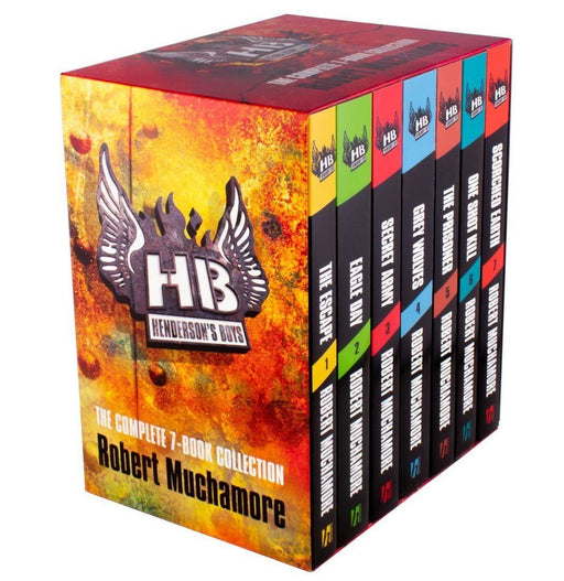 Henderson's Boys 7 Book Box - Ages 9-14 - Paperback - Robert Muchamore - Books2Door
