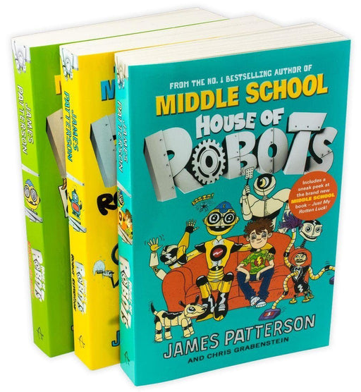 House of Robots Series 3 Books Collection - Ages 9-14 - Paperback - James Patterson - Books2Door