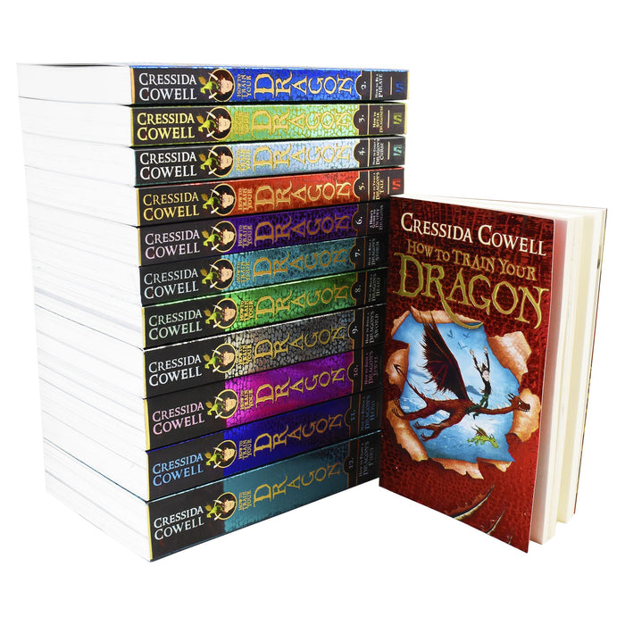 9-14 - How To Train Your Dragon 12 Books Collection - Cressida Cowell - Age 9-14 - Paperback