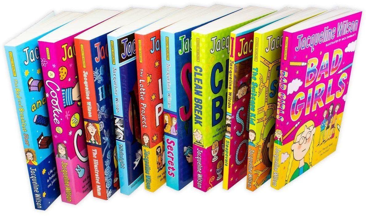 Jacqueline Wilson 10 Book Collection Box Set - Ages 9-14 - Paperback - Books2Door