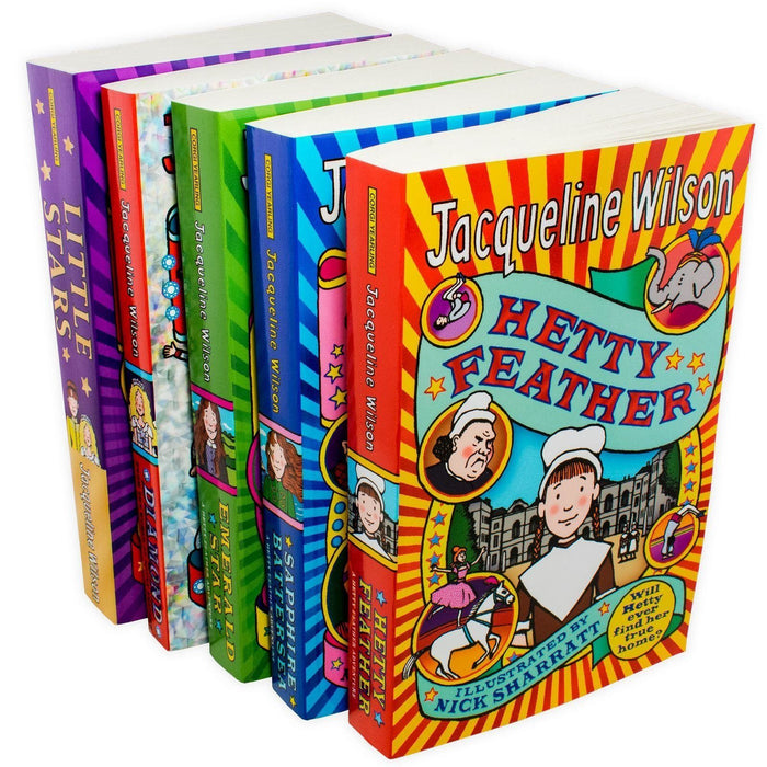Jacqueline Wilson Hetty Feather Adventures 5 Book Collection - Ages 9-14 - Paperback - Jacqueline Wilson - Books2Door