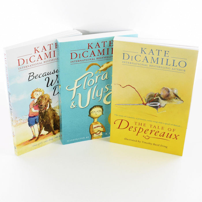 Kate Dicamillo Newbery Medal Collection 3 Books Box Set Paperback- Age 9-14 - Books2Door
