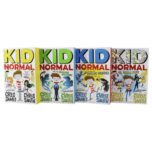 9-14 - Kid Normal Series 4 Books Collection Paperback Set - Ages 9-14 - By Greg James & Chris Smith