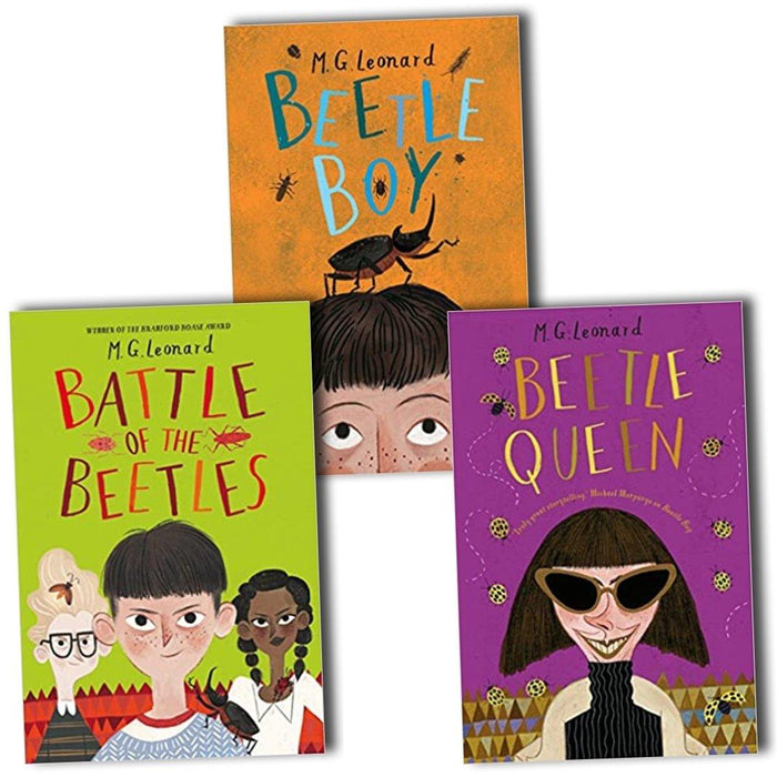 9-14 - M.G. Leonard Battle Of The Beetle 3 Books Collection: Beetle Boy, Beetle Queen & Battle Of The Beetles - Ages 9-14 – Paperback