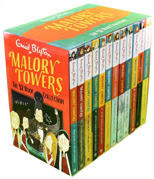 Malory Towers 12 Book Collection - Ages 9-14 - Paperback - Enid Blyton 9-14 Hodder