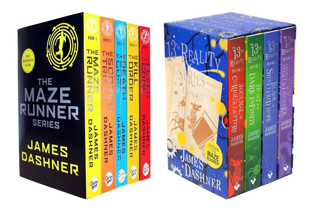 Maze Runner and 13th Reality 9 Books Box Sets Collection - Ages 9-14 - Paperback - James Dashner - Books2Door