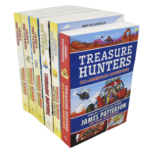 9-14 - Middle School Treasure Hunters 6 Book Collection - Ages 9-14 - Paperback - James Patterson