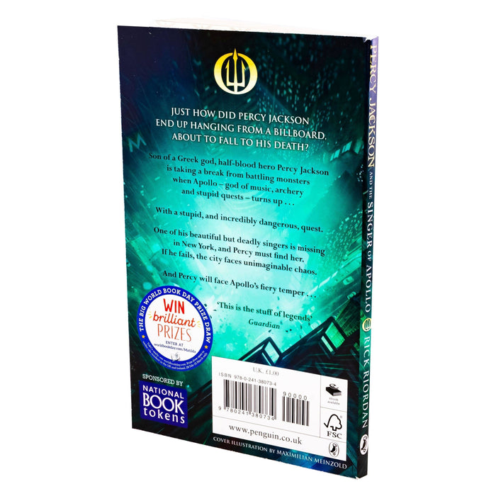 Percy Jackson and the Singer of Apollo WBD 2019 - Ages 9-14 - Paperback - Rick Riordan - Books2Door