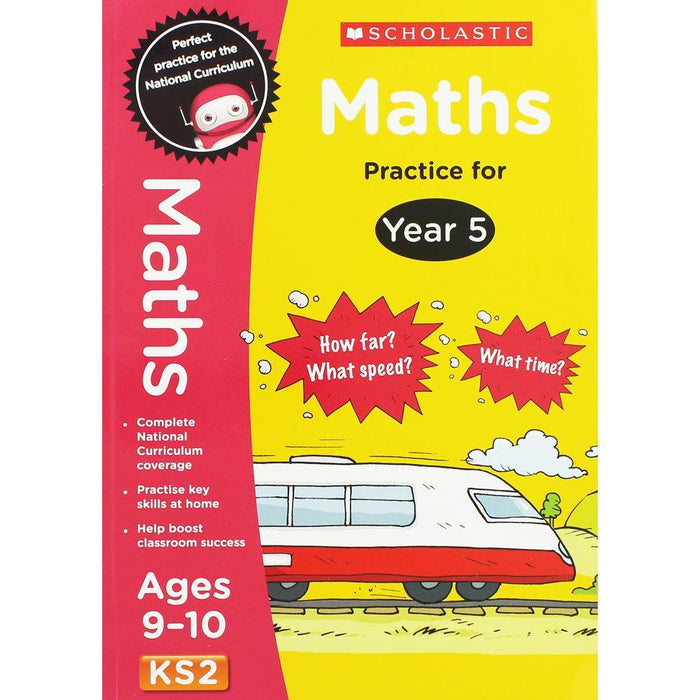 Perfect Practice KS2 English and Maths Year 5 - 2 Books For Age 9-10 Years - Paperback 9-14 Scholastic