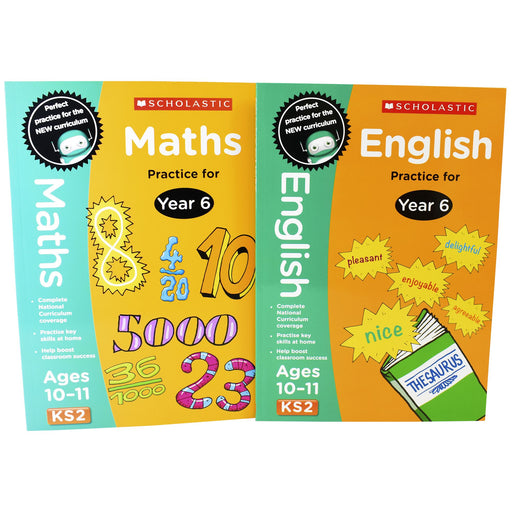 9-14 - Perfect Practice KS2 English And Maths Year 6 -2 Books For Age 10-11 Years - Paperback