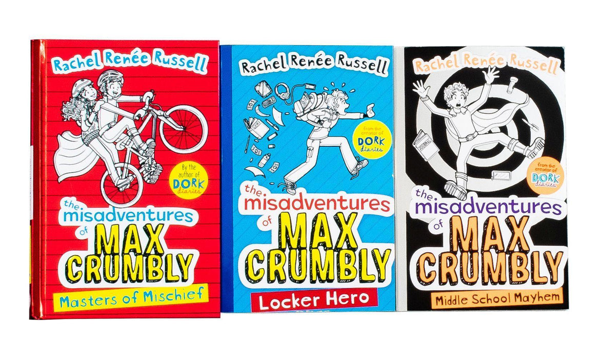Rachel Renee Russell Misadventures Of Max Crumbly 3 Books - Ages 9-14 - Paperback/Hardback - Books2Door