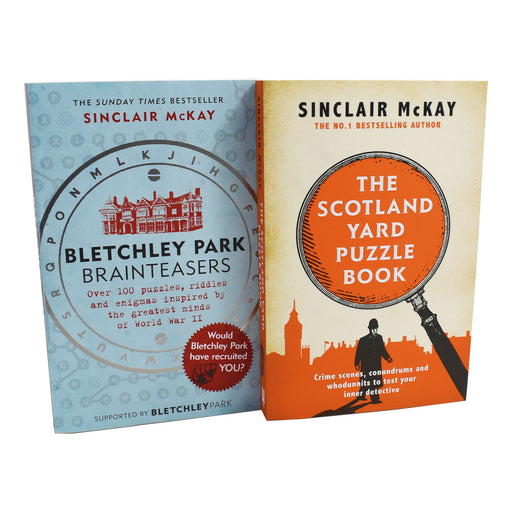 9-14 - Scotland Yard Puzzle,Bletchely Park 2 Adult Puzzle Books Paperback By Sinclair Mckay
