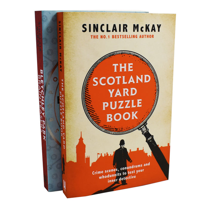 Scotland Yard Puzzle,Bletchely Park 2 Adult Puzzle Books Paperback By Sinclair Mckay 9-14 Headline