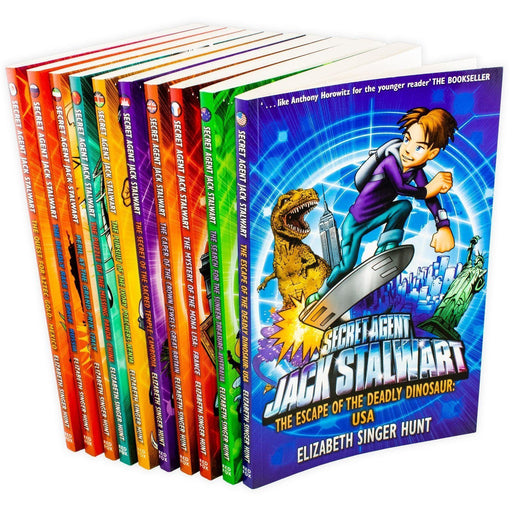 Secret Agent Jack Stalwart 10 Book Collection - Ages 9-14 - Paperback - Elizabeth Singer Hunt - Books2Door