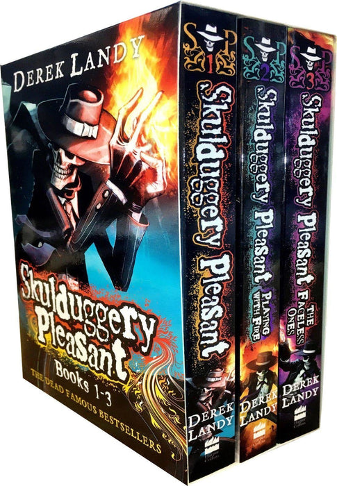 Skulduggery Pleasant Series 1 Box Set - Ages 9-14 - Paperback - Derek Landy - Books2Door