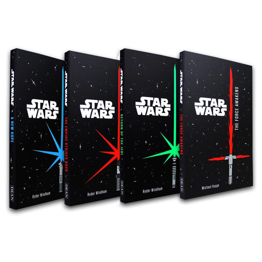 Star Wars 4 Books Set Junior Novel Collection - Ages 9-14 - Paperback - Ryder Windham and Lucasfilm - Books2Door