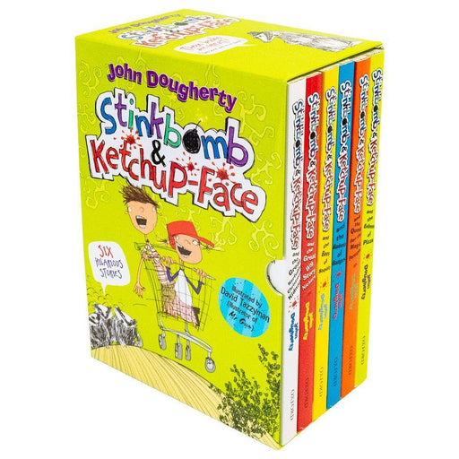 Stinkbomb and Ketchup Face  6 Books - Ages 9-14 - Paperback - John Dougherty - Books2Door