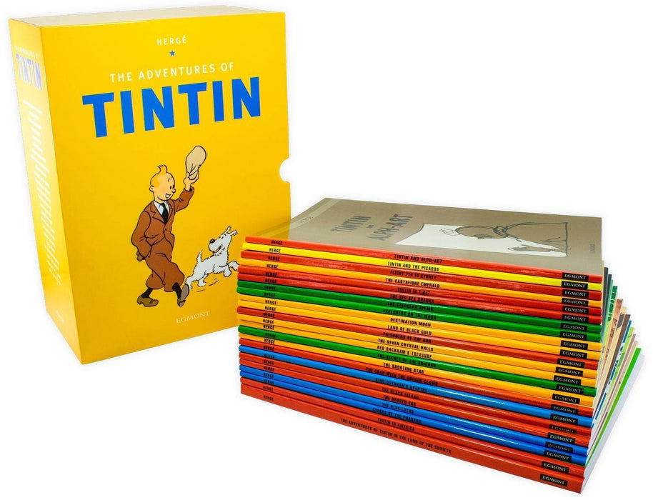 The Adventures of Tintin 23 Book Collection - Ages 9-14 - Paperback - Herge - Books2Door