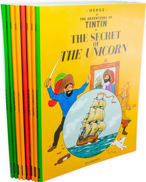 The Adventures of Tintin 8 Book Collection - Ages 9-14 - Paperback - Herge - Books2Door