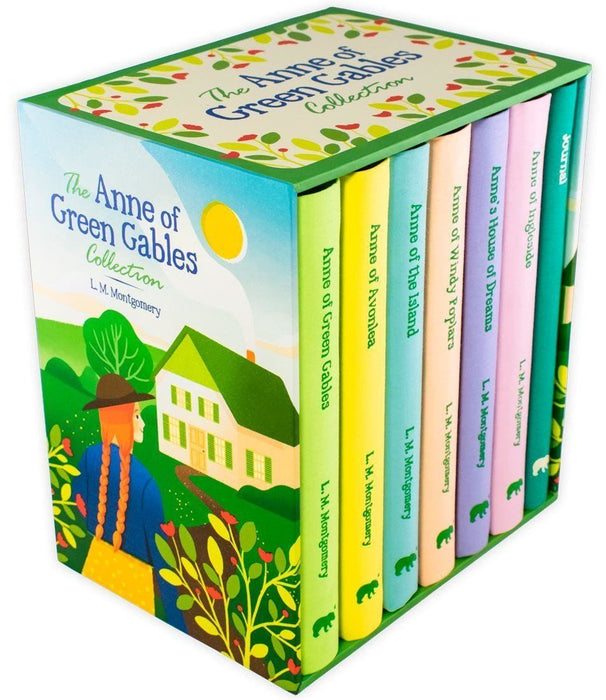 The Anne of Green Gables 7 Book Collection (Includes Journal) - Ages 9-14 - Cloth Bound Hardback - Lucy Maud Montgomery - Books2Door