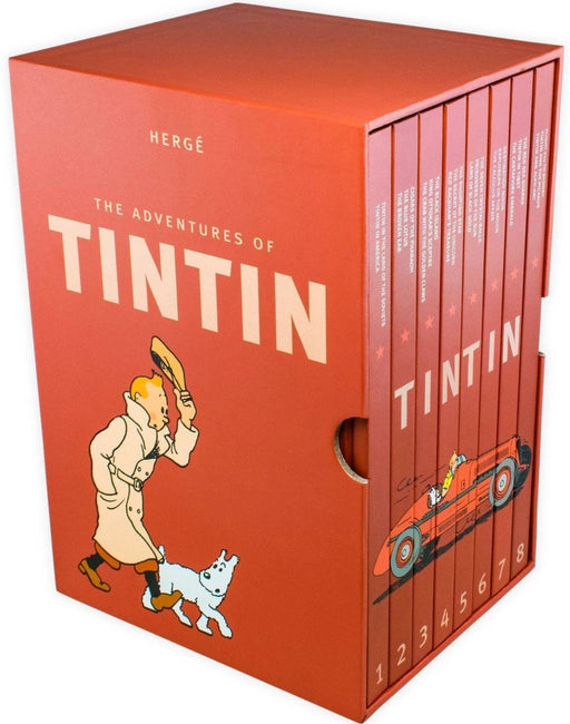 The Complete Adventures of Tintin Collection - 8 Books - Action / Mystery - Hardcover - Hergé - Books2Door