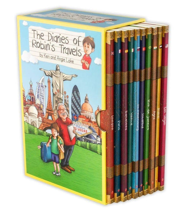 The Diaries of Robins Travels Adventures 10 Books Box Set - Age 7-9 - Paperback - Angie Lake, Ken Lake 7-9 Sweet Cherry Publishing