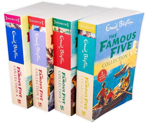 The Famous Five 4 Book 12 Story Collection - Ages 9-14 - Paperback - Enid Blyton 9-14 Hodder & Stoughton