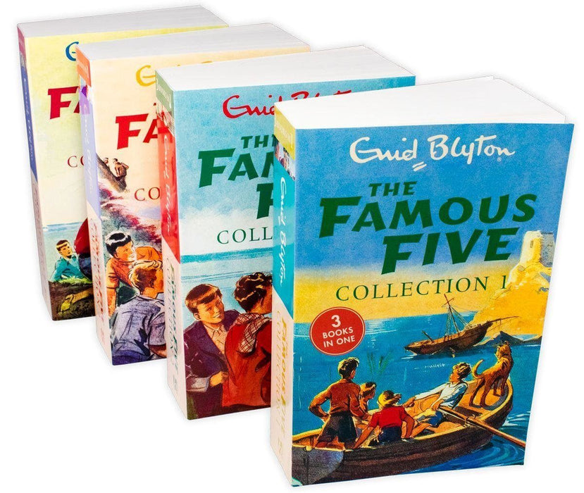 The Famous Five 4 Book 12 Story Collection - Ages 9-14 - Paperback - Enid Blyton - Books2Door