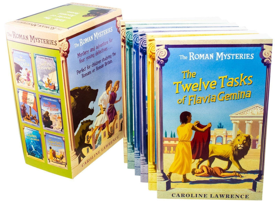 The Roman Mysteries 6 Book Collection - Ages 9-14 - Paperback - Caroline Lawrence 9-14 Orion Books