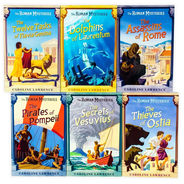 The Roman Mysteries 6 Book Collection - Ages 9-14 - Paperback - Caroline Lawrence - Books2Door