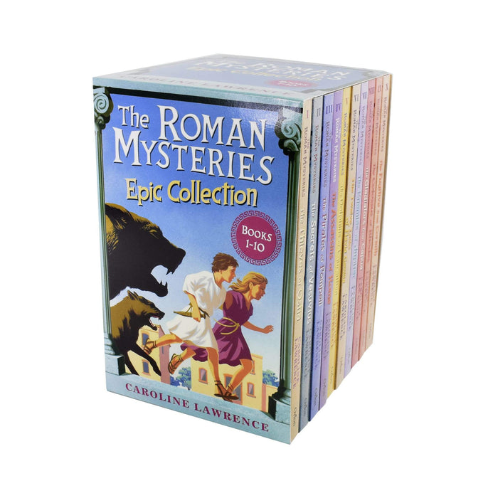9-14 - The Roman Mysteries Epic 10 Books Collection - Ages 9-14 - Paperback - Caroline Lawrence