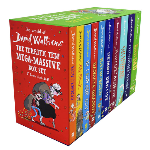 9-14 - The Terrific Ten 10 Books Box Set Collection - Ages 9-14 - Paperback - David Walliams